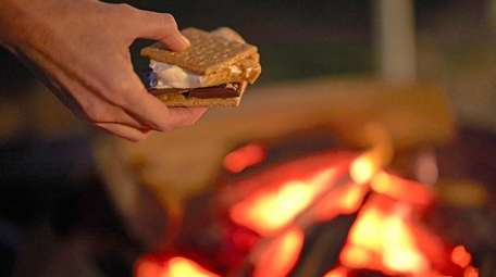 S'mores are served during the