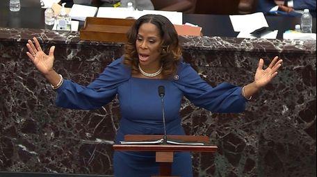 Del. Stacey Plaskett (D-Virgin Islands) speaks during the