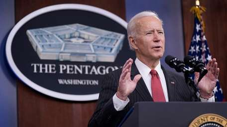 President Joe Biden speaks to Department of Defense