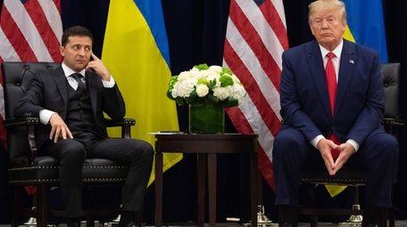Then-President Donald Trump with Ukrainian President Volodymyr Zelensky