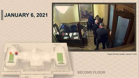 Security video showing Vice President Mike Pence being