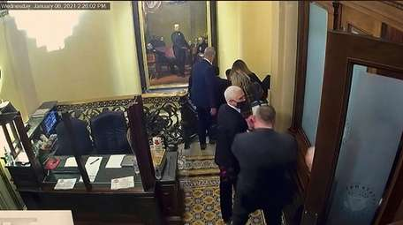 Then-Vice President Mike Pence's evacuation in the Jan.