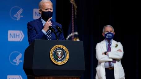 President Joe Biden speaks during a visit to