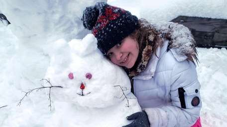 """Autumn made this """"snowcat"""" so that the family's"""