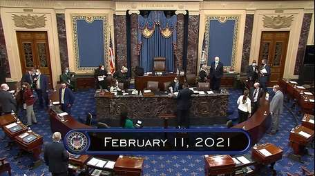 In this image from video, the Senate begins