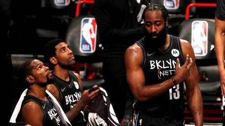 James Harden, Kevin Durant and Kyrie Irving of
