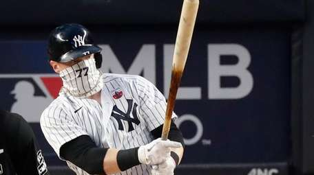 The Yankees' Clint Frazier against the Red Sox
