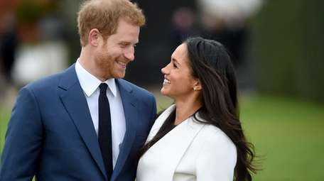 Britain's Prince Harry and his wife, Meghan, the