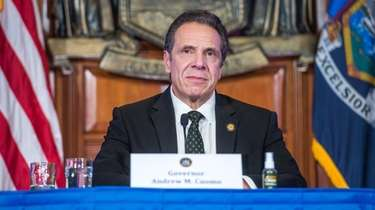 Gov. Andrew M. Cuomo holds a coronavirus briefing