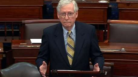 Minority Leader Mitch McConnell speaks Saturday on why