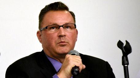 North Babylon superintendent Glen Eschbach at a 2018
