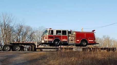A fire truck that was formerly used by