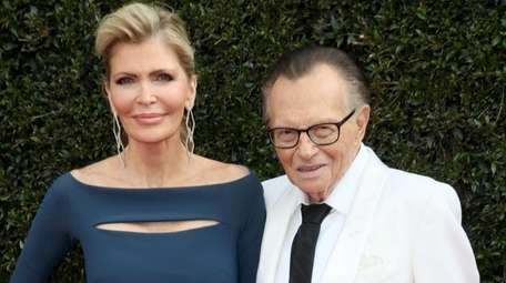 Larry King and wife Shawn King are seen