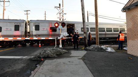A Long Island Rail Road train fatally struck