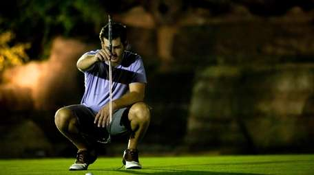 Nighttime golfing on the par 3 course at