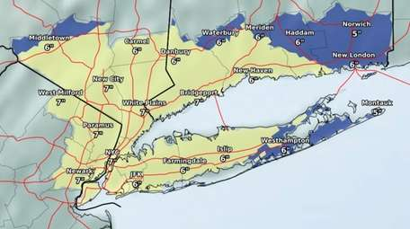 Parts of Long Island could see up to
