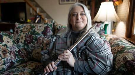 Debby Sherman in her East Northport home on
