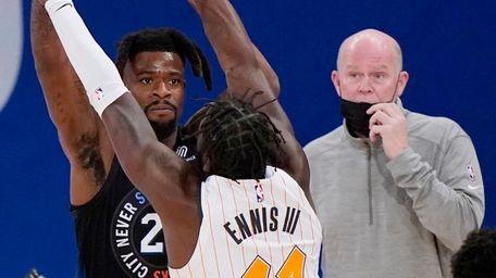 Magic head coach Steve Clifford looks on as