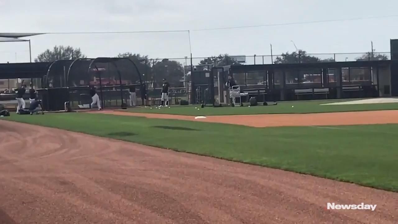 Watch Yankees catcher Gary Sanchez take his second