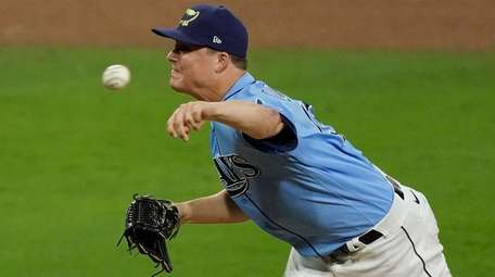 Rays' Aaron Loup pitches against Houston Astros in