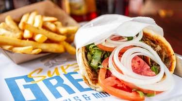 A classic gyro from Super Greek Gyro Bowls
