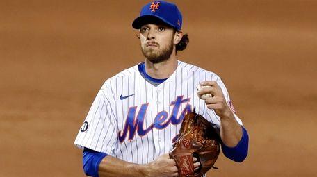New York Mets pitcher Steven Matz reacts during