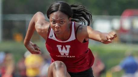 Aniyah Walters of Whitman won her heat in