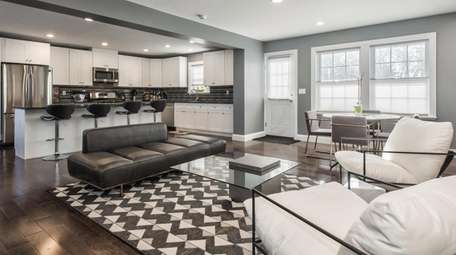 The home has an open kitchen with top-of-the-line