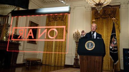 President Joe Biden delivered remarks at a virtual