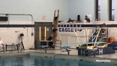 Alex Zhangof Harborfieldswon his third straight Suffolk diving