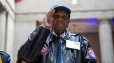 Tuskegee Airman William Johnson is honored at a