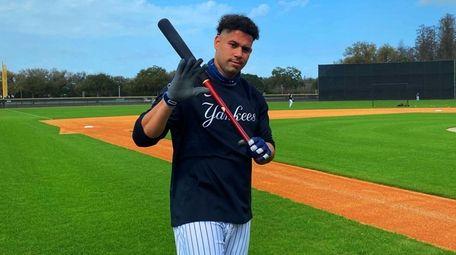Gary Sanchez at Yankees spring training in Tampa