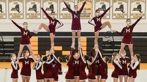 Mepham cheerleaders show off their hard work during