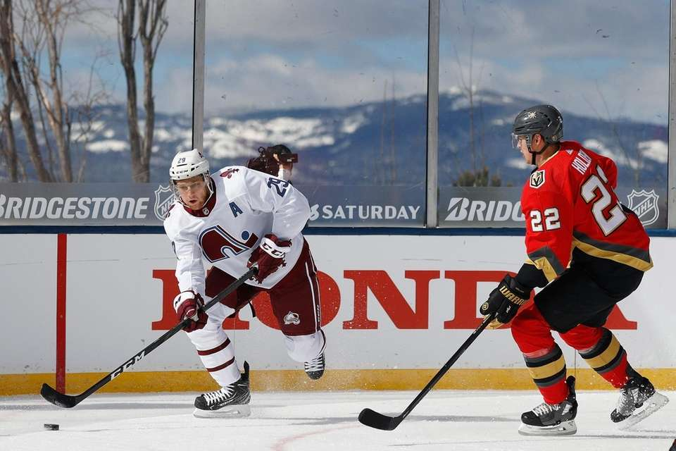 STATELINE, NEVADA - FEBRUARY 20: Nathan MacKinnon #29
