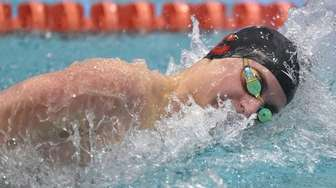 Nick Shopis of Chaminade competes in the 200-yard