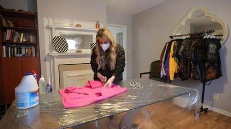 Eugenia Fundo started making bleach distressed clothing at