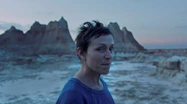"Frances McDormand in ""Nomadland."""