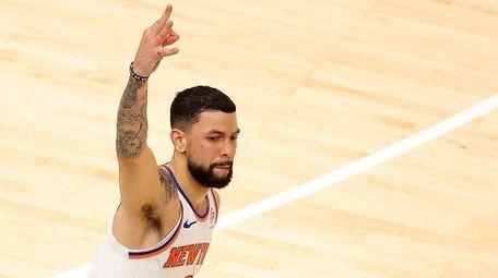 Austin Rivers #8 of the New York Knicks