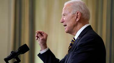 President Joe Biden speaks on U.S. supply chains,