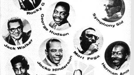 A program cover depicts several WWRL Disc Jockeys