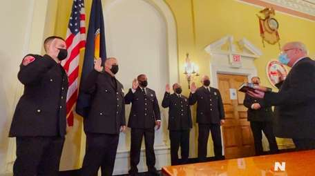 Five members of the Freeport Police Department were