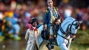 A detail of a diorama featuring George Washington