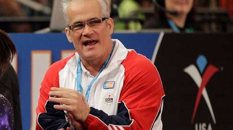 Gymnastics coach John Geddert is seen at the