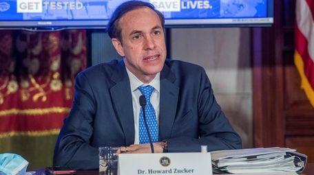 State Health Commissioner Dr. Howard Zucker speaks in