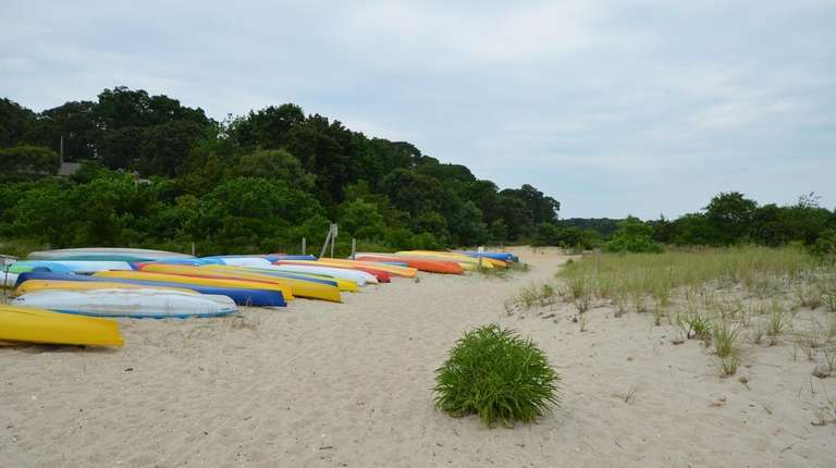 The beach outside a two-bedroom, one-bath Southold ranch, available to rent this summer. Credit: North Fork Real Estate