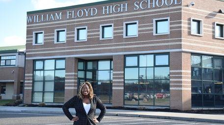 Saniyyah Pitner, a senior at William Floyd High