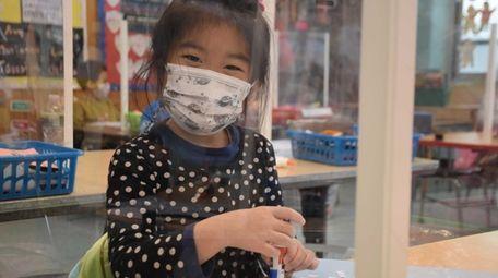 In Elwood, Olivia Choi was among kindergartners in