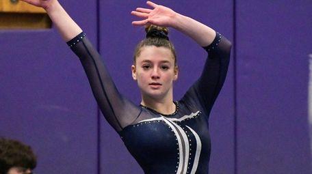 Payton Sacks of Plainview during her floor performance