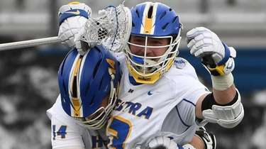 Hofstra attacker Ryan Tierney celebrates his eighth goal