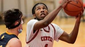 CJ Brackett of Center Moriches looks to shoot